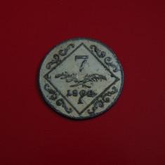 Moneda argint 7 kreuzer 1802A