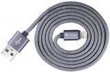 Cablu de date Devia Fashion DVFSHMFILGHTGR, impletitura textila, Lightning, 1.2m (Gri)