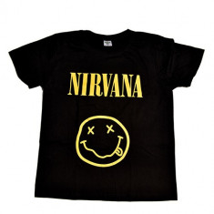 Tricou Nirvana - Smiley, L, M, XL