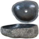 Cumpara ieftin Chiuvetă din piatră de râu, 38-45 cm, ovală