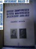 DUILIU ZAMFIRESCU si TITU MAIORESCU in scrisori -1937