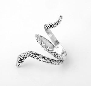 Inel gotic  unisex,sarpe silver
