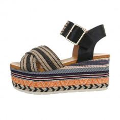 Sandale sic, colorate, cu platforma foto