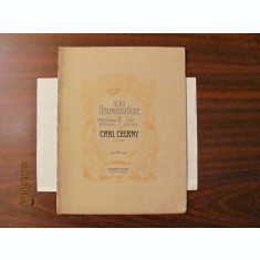 "GE - Carl CZERNY ""100 exercitii pentru incepatori pian"""