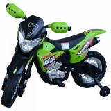 Homcom Motoreta MotoCross Electrica pentru Copii, Verde, 107x53x70cm