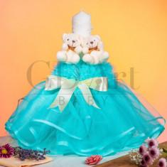 Lumanare Tulle Double Bear Turquoise BB-001, GD Art Baby