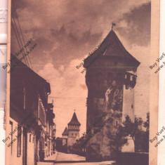 CARTE POSTALA*SIBIU*HERMANNSTADT*TURNURILE DE FORTIFICATII, Circulata, Printata