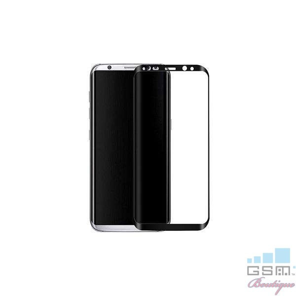 Geam Folie Sticla Protectie Display Samsung Galaxy S8 Acoperire Completa Neagra