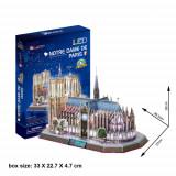 Cumpara ieftin Puzzle 3D LED Notre Dame De Paris, CubicFun
