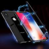 Bumper magnetic Iphone Xs Max - 2 culori, Negru, Rosu