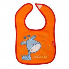 Bobobaby baveta cu inchidere velcro S-D20 Girafa orange