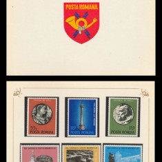 1975 Romania, Anul European al Ocrotirii Monumentelor LP 885 carnet filatelic