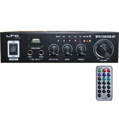 Amplificator karaoke, USB, SD, Bluetooth, telecomanda, 2 x 20 W