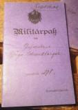 Pasaport militar vechi - Germania - inceput de 1900