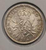50 BANI 1914 . DETALII EXCELENTE ., Argint