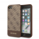 Cumpara ieftin Husa iPhone SE 2020 / iPhone 8 / iPhone 7 / iPhone 6S / iPhone 6, Guess, Stripe Collection, Maro
