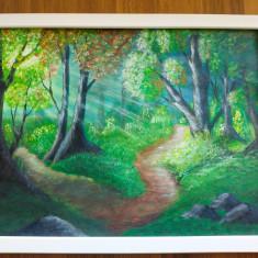 """Tablou pictura acrilica """"Sunny Forest"""""""