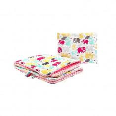 Set lenjerie de pat 2 piese pentru bebelusi Sensillo 4204R, Multicolor