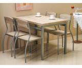 Set masa si 4 scaune Giselda - Signal, Crem