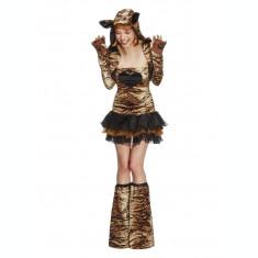 Costum de tigru cu tutu pentru adulti