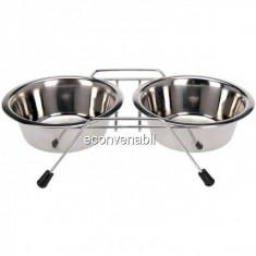 Set 2 Castroane inox Caini, suport metalic, 2x400ml Grunberg GR2985