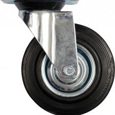 VOREL 87317 Roata pivotanta cauciucata carucior 200 mm,150 kg