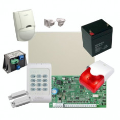 Kit profesional de alarma la efractie DSC cu sirena interioara