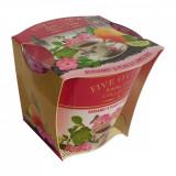 Lumanare Five O' Clock Bergamot & Pear & Flower Rose, 115 gr, Alexer