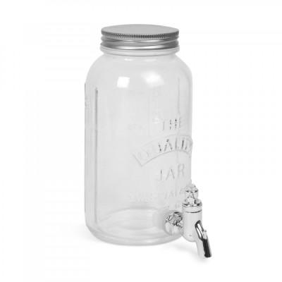 Dozator bauturi cu robinet, sticla, 1 litru foto