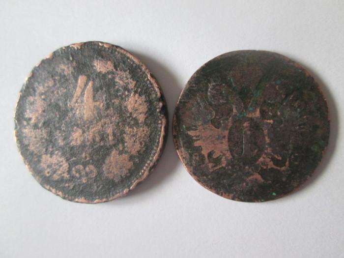 Austria lot 2 monede deteriorate:1 Kreuzer 1800 + 4 Kreuzer 1861
