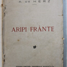 ARIPI FRANTE - DRAMA IN 3 ACTE , IN VERSURI de A . de HERZ , 1928