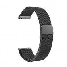 Curea Milanese Slim Fit compatibila Samsung Gear 2, Telescoape QR, 22mm, Negru