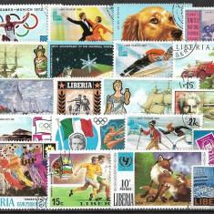 5735 - lot timbre Liberia