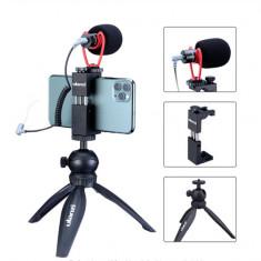 Kit vlog Ulanzi mini trepied MT-03+suport smartphone ST-2S si microfon Sairen VM-Q1