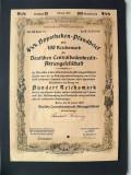 Titlu De Stat Obligatiune Germania-1940-100-Reichsmark