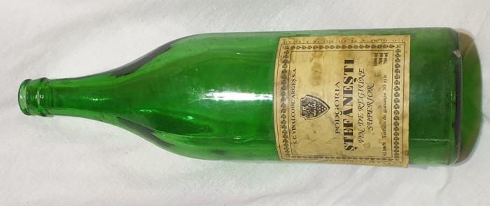 Sticla colectie vin de regiune superior Podgoria STEFANESTI vinalcol ARGES 1969