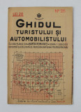 GHIDUL TURISTULUI SI AUTOMOBILISTULUI , HARTA ROMANIEI , CAROUL 25 - ALBA - IULIA , DEVA de M.D. MOLDOVEANU , 1936