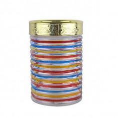 Recipent condimente din sticla pictata cu capac Peterhof PH10027 1.3L