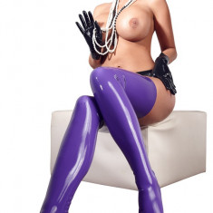 Ciorapi Latex Violet