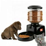 Cumpara ieftin Hranitor automat cu LCD si inregistrare vocala, pentru caini si pisici, 5.5L, negru, Gonga