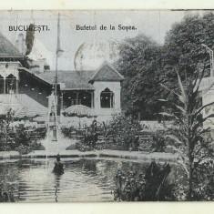 cp Bucuresti : Bufetul de la Sosea - circulata 1916
