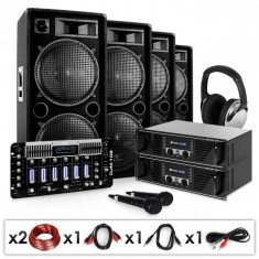Electronic-Star Bass First Pro, DJ PA set, 2 x amplificator, 4 x difuzor, mixer, 4 x 500 W