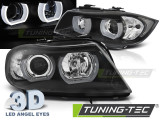 Faruri compatibile cu Bmw E90/E91 03.05-08.08 3D U-TYPE Negru