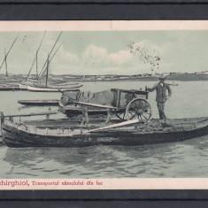 DOBROGEA  TECHIRGHIOL  TRANSPORTUL  NAMOLULUI  DIN  LAC  CIRCULATA  1916  UPU, Printata