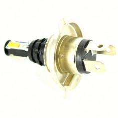 Bec LED H4 2 faze 3535 4LED Epistar 20w 12V