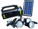 Cumpara ieftin Lanterna solara cu 4 becuri, incarcare telefon, radio, mp3, bluetooth, lampa, CCLAMP