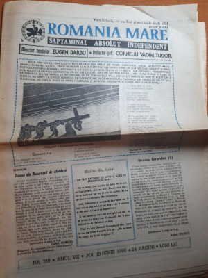 romania mare 13 iunie 1996-articol despre maresalul antonescu foto