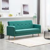 Canapea din material textil verde