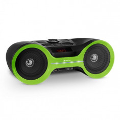 Auna Boombastic Bluetooth Boombox USB SD MP3 AUX FM LED baterie