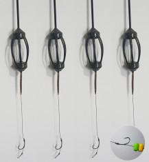 Set 4 monturi crap echipate cu porumb flotant foto